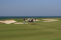 Brandon Stone (RSA) and Guido Migliozzi (ITA) on the 9th during Round 2 of the Oman Open 2020 at the Al Mouj Golf Club, Muscat, Oman . 28/02/2020<br /> Picture: Golffile | Thos Caffrey<br /> <br /> <br /> All photo usage must carry mandatory copyright credit (© Golffile | Thos Caffrey)