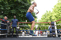 Chris Eubank Jnr skips rope during a Public Work Out at ITV Head Office on 12th July 2017
