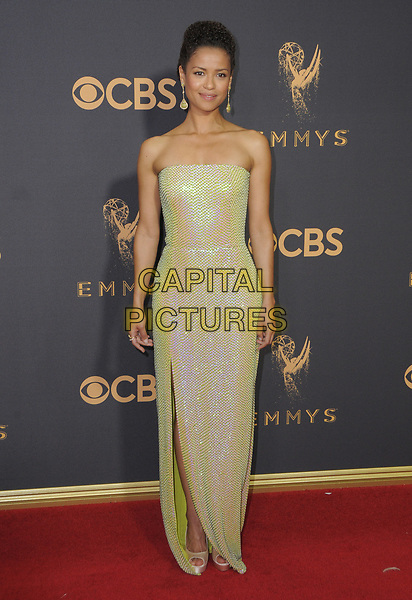 17 September  2017 - Los Angeles, California - Gugu Mbatha-Raw. 69th Annual Primetime Emmy Awards - Arrivals held at Microsoft Theater in Los Angeles. <br /> CAP/ADM/BT<br /> &copy;BT/ADM/Capital Pictures