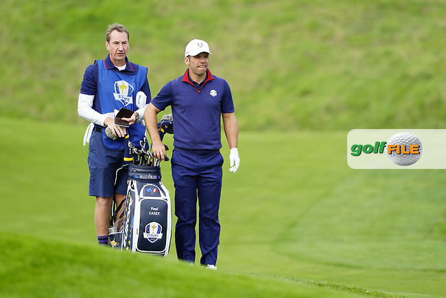 Paul Casey (Team Europe) during the friday fourballs at the Ryder Cup, Le Golf National, Iles-de-France, France. 27/09/2018.<br /> Picture Fran Caffrey / Golffile.ie<br /> <br /> All photo usage must carry mandatory copyright credit (© Golffile | Fran Caffrey)