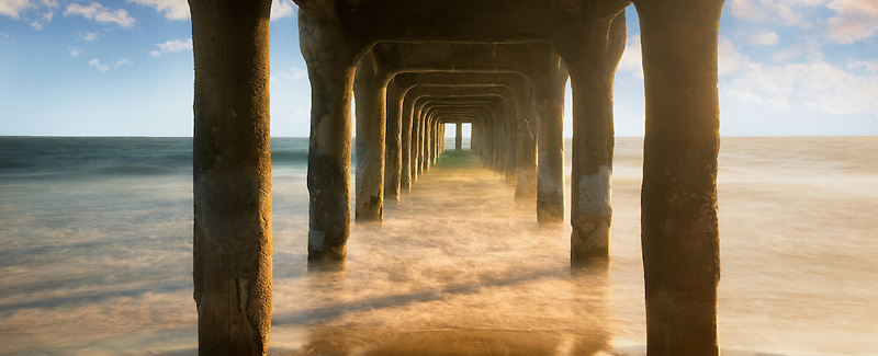 Manhattan Beach Pier at Sunset. Manhattan Beach, California