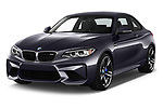 2017 BMW M2 Base 2 Door Coupe angular front stock photos of front three quarter view