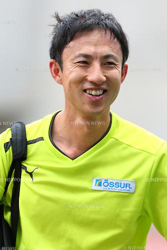Toru Suzuki,<br /> JULY 19, 2015 - Athletics :<br /> Japan Para Athletics Championships,<br /> Men's T47 High Jump Final<br /> at Yanmar Stadium Nagai, Osaka, Japan. <br /> (Photo by Shingo Ito/AFLO SPORT)