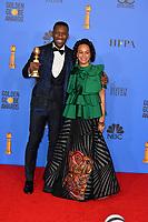 LOS ANGELES, CA. January 06, 2019: Mahershala Ali & Amatus Sami-Karim at the 2019 Golden Globe Awards at the Beverly Hilton Hotel.<br /> Picture: Paul Smith/Featureflash