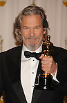 HOLLYWOOD, CA. - March 07: Actor Jeff Bridges, winner of Best Actor award for 'Crazy Heart,' poses in the press room at the 82nd Annual Academy Awards held at the Kodak Theatre on March 7, 2010 in Hollywood, California.