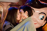 Sex Drive (2008) <br /> Josh Zuckerman &amp; Amanda Crew<br /> *Filmstill - Editorial Use Only*<br /> CAP/MFS<br /> Image supplied by Capital Pictures