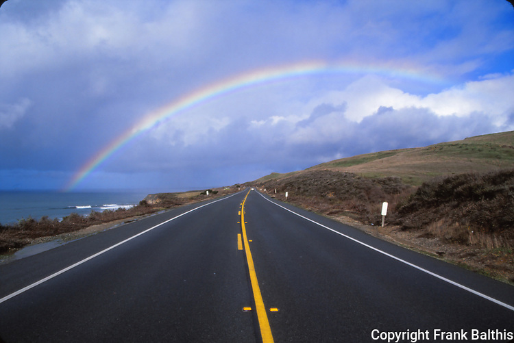Rainbow over California Highway One