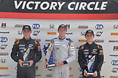 2017 F4 US Championship<br /> Rounds 4-5-6<br /> Indianapolis Motor Speedway, Speedway, IN, USA<br /> Sunday 11 June 2017<br /> Race three podium with winner Kyle Kirkwood, second place Jacob Loomis and third place Benjamin Pedersen<br /> World Copyright: Dan R. Boyd<br /> LAT Images