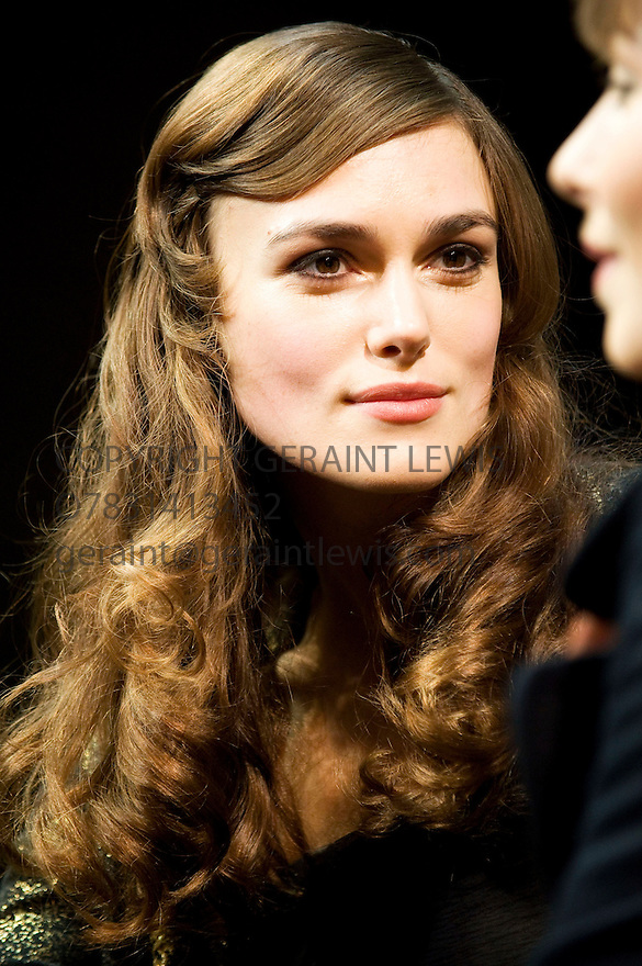 The Misanthrope by Moliere,a version by Martin Crimp directed by Thea Sharrock.With Keira Knightley as Jennifer Opens at The Comedy Theatre on 17/12/09.  Credit Geraint Lewis