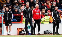 Bolton Wanderers' Julian Darby, Phil Parkinson, Lee Butler and Steve Parkin <br /> <br /> Photographer Andrew Kearns/CameraSport<br /> <br /> The EFL Sky Bet Championship - Nottingham Forest v Bolton Wanderers - Sunday 5th May 2019 - The City Ground - Nottingham<br /> <br /> World Copyright © 2019 CameraSport. All rights reserved. 43 Linden Ave. Countesthorpe. Leicester. England. LE8 5PG - Tel: +44 (0) 116 277 4147 - admin@camerasport.com - www.camerasport.com