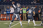 Nevada quarterback Carson Strong (12) throws against New Mexico in the first half of an NCAA college football game in Reno, Nev., Saturday, Nov. 2, 2019. (AP Photo/Tom R. Smedes)