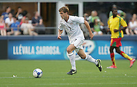 Robbie Rogers dribbles the ball. USA defeated Grenada 4-0 during the First Round of the 2009 CONCACAF Gold Cup at Qwest Field in Seattle, Washington on July 4, 2009.