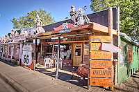 The Rusty Bolt Gift Shop on Route 66 in Seligman Arizona, is a unique stop.