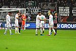 06.10.2019, Commerzbankarena, Frankfurt, GER, 1. FBL, Eintracht Frankfurt vs. SV Werder Bremen, <br /> <br /> DFL REGULATIONS PROHIBIT ANY USE OF PHOTOGRAPHS AS IMAGE SEQUENCES AND/OR QUASI-VIDEO.<br /> <br /> im Bild: Theodor Gebre Selassie (#23, SV Werder Bremen), Nuri Sahin (SV Werder Bremen #17), Benjamin Goller (SV Werder Bremen #39)<br /> <br /> Foto © nordphoto / Fabisch