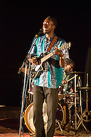 Patrice Diandy Plays for Dinner Guests, Biannual Arts Festival, Goree Island, Senegal.