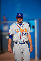 St. Lucie Mets Chase Ingram (22) before a game against the Dunedin Blue Jays on April 19, 2017 at Florida Auto Exchange Stadium in Dunedin, Florida.  Dunedin defeated St. Lucie 9-1.  (Mike Janes/Four Seam Images)