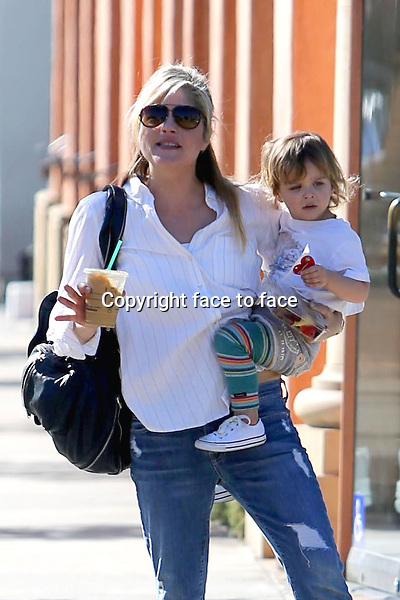 Selma Blair with son out in Brentwood, 13.01.2014.<br />