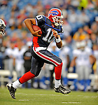 28 August 2008:  Buffalo Bills' quarterback Gibran Hamdan scrambles for a 28 yard gain in the first quarter against the Detroit Lions at Ralph Wilson Stadium in Orchard Park, NY. The Lions defeated the Bills 14-6 in their fourth and final pre-season game...Mandatory Photo Credit: Ed Wolfstein Photo