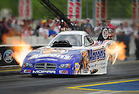 Jun. 19, 2011; Bristol, TN, USA: NHRA funny car driver Jack Beckman during eliminations at the Thunder Valley Nationals at Bristol Dragway. Mandatory Credit: Mark J. Rebilas-