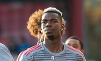 Paul Pogba of Man Utd pre match during the Premier League match between Bournemouth and Manchester United at the Goldsands Stadium, Bournemouth, England on 18 April 2018. Photo by Andy Rowland.