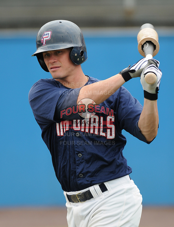 July 17, 2009: Outfielder Boomer Whiting (2) of the Potomac Nationals, Carolina League affiliate of the Washington Nationals, in a game against the Kinston Indians at G. Richard Pfitzner Stadium in Woodbridge, Va. Photo by: Tom Priddy/Four Seam Images