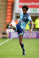 Sido Jombati of Wycombe Wanderers during the Sky Bet League 2 match between Blackpool and Wycombe Wanderers at Bloomfield Road, Blackpool, England on 20 August 2016. Photo by James Williamson / PRiME Media Images.
