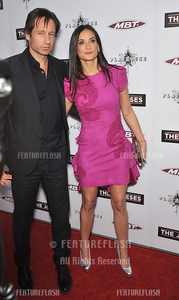 "Demi Moore & David Duchovny at the Los Angeles premiere of their new movie ""The Joneses"" at the Arclight Theatre, Hollywood..April 8, 2010  Los Angeles, CA.Picture: Paul Smith / Featureflash"