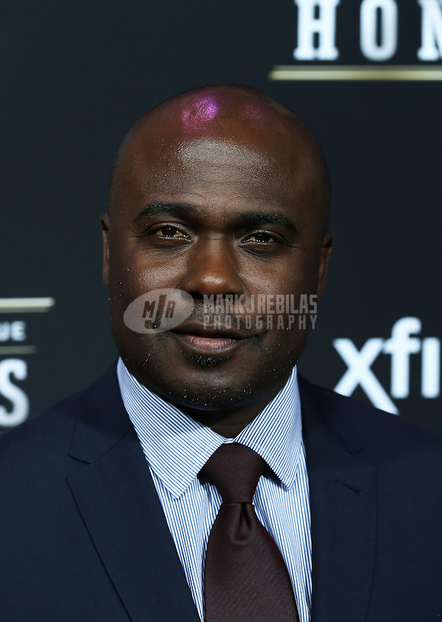 Feb. 2, 2013; New Orleans, LA, USA:  NFL former player Marshall Faulk on the red carpet prior to the Super Bowl XLVII NFL Honors award show at Mahalia Jackson Theater. Mandatory Credit: Mark J. Rebilas-USA TODAY Sports