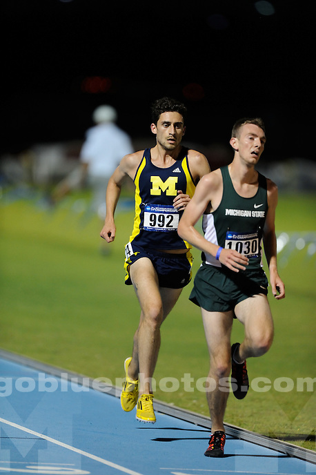 The University of Michigan men's track and field team compete at the 2015 East Regional NCAA Track and Field Championships. Jacksonville, FL. May 30, 2015