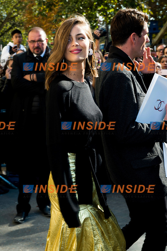 Marie Ange Casta Chanel s fashion show arrivals - Paris - 04/10/2016 <br /> Foto Panoramic / Insidefoto