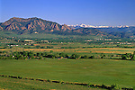 Boulder Valley and the Flatirons rock formation, Boulder, Colorado, USA. Private photo tours to Indian Peaks. Private guided tours to Indian Peaks. Private photo tours of Boulder. .  John leads private photo tours in Boulder and throughout Colorado. Year-round Colorado photo tours.
