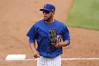 Iowa Cubs outfielder Rubi Silva (12) during a Pacific Coast League game against the Colorado Springs Sky Sox on May 11th, 2015 at Principal Park in Des Moines, Iowa.  Colorado Springs defeated Iowa 13-7.  (Brad Krause/Four Seam Images)