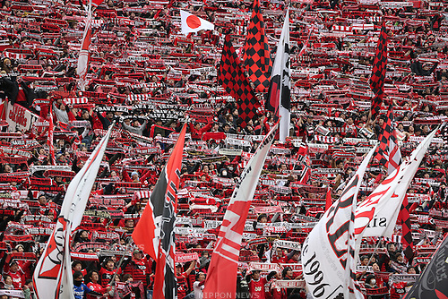 Urawa Reds fans,<br /> MARCH 12, 2016 - Football / Soccer : 2016 J1 League 1st stage match between Urawa Reds 2-0 Avispa Fukuoka at Saitama Stadium 2002 in Saitama, Japan. (Photo by Jun Tsukida/AFLO SPORT)
