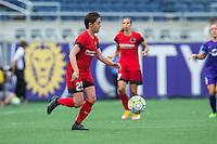 Orlando, FL - Sunday June 26, 2016: Meghan Klingenberg  during a regular season National Women's Soccer League (NWSL) match between the Orlando Pride and the Portland Thorns FC at Camping World Stadium.