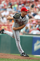 July 20th 2008:  Pitcher Chuck James of the Richmond Braves, Class-AAA affiliate of the Atlanta Braves, during a game at Dunn Tire Park in Buffalo, NY.  Photo by:  Mike Janes/Four Seam Images