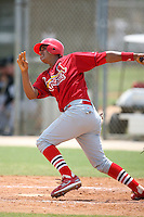 April 14, 2009:  Catcher Luis Polanco of the St. Louis Cardinals extended spring training team during a game at Roger Dean Stadium Training Complex in Jupiter, FL.  Photo by:  Mike Janes/Four Seam Images