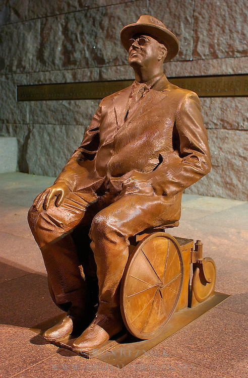 Prologue, Franklin Delano Roosevelt Wheelchair Sculpture, Robert Graham 2001, FDR Memorial, Washington DC