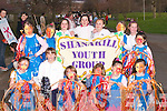 SHANAKILL: The Shanakill youths who marched in the Samhlaiocht Easter Parade on Saturday in Tralee: Chelesa Dowling, Samantha Ward, Ali Crean, Caitie Gunn, Tiffany and Leeanne O'Brien, Atlanta Moriarty, Rebecca Donovan, Katie O'Connor, Niamh O'Carroll, Megan Hill, Caithlin Sheehy, Shauna O'Connor and Rebecca Quilter..