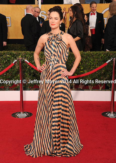 LOS ANGELES, CA- JANUARY 18: Actress Lena Headey arrives at the 20th Annual Screen Actors Guild Awards at The Shrine Auditorium on January 18, 2014 in Los Angeles, California.