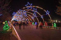 Walking through the Zilker Park Trail of Lights Starry Night Tunnel is a magical holiday experience