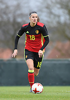 20171123 - TUBIZE , BELGIUM : Belgian Laura De Neve pictured during a friendly game between the women teams of the Belgian Red Flames and Russia at complex Euro 2000 in Tubize , Thursday  23 October 2017 ,  PHOTO Dirk Vuylsteke | Sportpix.Be