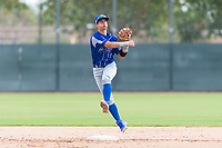 Team Italy second baseman Ricardo Paolini (1) warms up before an exhibition game against the Oakland Athletics at Lew Wolff Training Complex on October 3, 2018 in Mesa, Arizona. (Zachary Lucy/Four Seam Images)