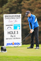 Kevin Phelan (IRL) on the 3rd tee during Round 1 of the Bridgestone Challenge 2017 at the Luton Hoo Hotel Golf &amp; Spa, Luton, Bedfordshire, England. 07/09/2017<br /> Picture: Golffile | Thos Caffrey<br /> <br /> <br /> All photo usage must carry mandatory copyright credit     (&copy; Golffile | Thos Caffrey)