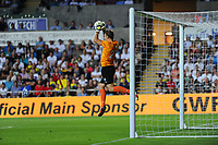 Thursday  01  August  2013<br /> <br /> Pictured: Johan Dahlin Saves a Shelvey free kick<br /> Re:UEFA Europa League Third Qualifying Round -1st Leg Swansea City vs Malmo FF