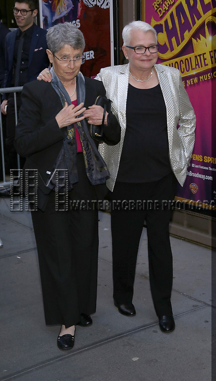 Anne Fausto-Sterling and Paula Vogel attends the Broadway Opening Night Performance of  'Indecent' at The Cort Theatre on April 18, 2017 in New York City.