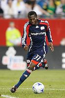 New England Revolution midfielder Sainey Nyassi (31). The New England Revolution defeated FC Dallas 2-1 during a Major League Soccer match at Gillette Stadium in Foxborough, MA, on June 6, 2008.