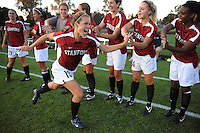 Stanford, CA - SEPTEMBER 12:  Forward Kelley O'Hara #19 of the Stanford Cardinal during Stanford's 1-1 tie against the North Carolina Tar Heels in the Stanford/Nike Invitational on September 12, 2008 at Laird Q. Cagan Stadium in Stanford, California.
