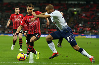 Lucas of Tottenham Hotspur and Cedric Soares of Southampton during Tottenham Hotspur vs Southampton, Premier League Football at Wembley Stadium on 5th December 2018