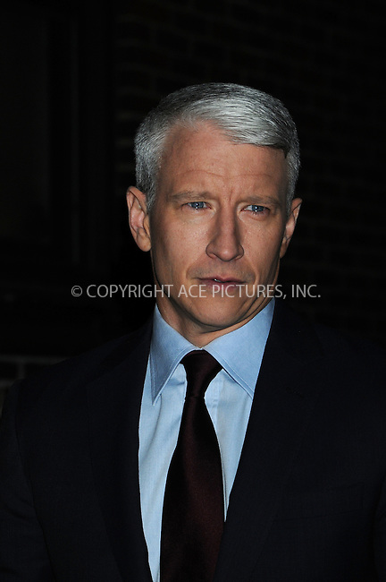 WWW.ACEPIXS.COM . . . . . ....December 8 2008, New York City....TV Journalist Anderson Cooper at the 'Late Show with David Letterman' at the Ed Sullivan Theater on December 8, 2008 in New York City.....Please byline: AJ SOKALNER - ACEPIXS.COM.. . . . . . ..Ace Pictures, Inc:  ..(646) 769 0430..e-mail: info@acepixs.com..web: http://www.acepixs.com