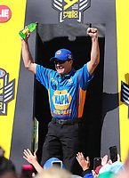 Mar 19, 2017; Gainesville , FL, USA; NHRA funny car driver Ron Capps during the Gatornationals at Gainesville Raceway. Mandatory Credit: Mark J. Rebilas-USA TODAY Sports